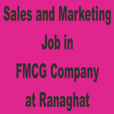 Sales and Marketing Job in FMCG CompanyatRanaghat.Dipa 9874743332